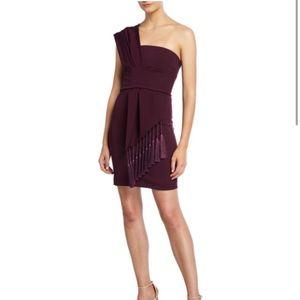 Cushnie et Ochs one shoulder plum dress NWT 6